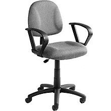 Tweed Fabric Task Chair with Loop Arms, 8803548