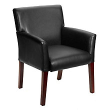 Vinyl Box Arm Guest Chair, BOC-B619