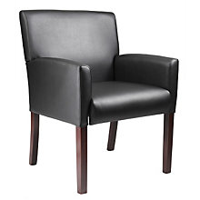 Vinyl Box Arm Reception Chair, BOC-B629