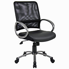 Hydra Computer Chair in Bonded Leather Seat and Mesh Back , BOC-B6406