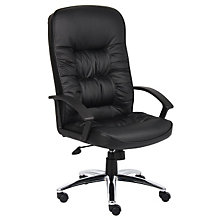 Burke High Back Bonded Leather Executive Chair with Chrome Base, 8802410
