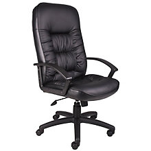 Burke High Back Executive Chair in Bonded Leather , BOC-B7301