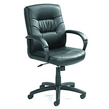 Austen Mid-Back Manager's Chair in Bonded Leather , BOC-B7506