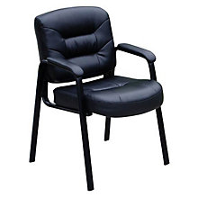 Austen Guest Chair in Bonded Leather, BOC-B7509
