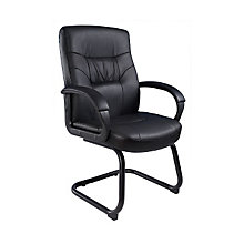 Austen Cantilever Base Side Chair in Bonded Leather , BOC-B7519LF