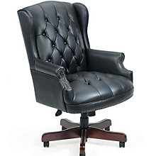 Widmore Queen Anne Vinyl Executive Chair, BOC-B800