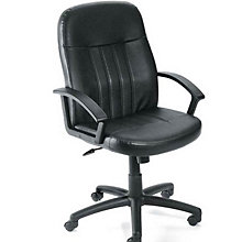 Littleton Mid-Back Computer Chair in Bonded Leather, BOC-B8106