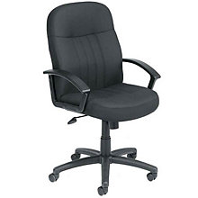 Black Fabric Mid Back Manager Chair, 8802412