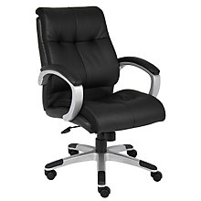 Abrams Tufted Bonded Leather Desk Chair, BOC-B8776
