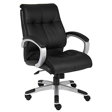 Tufted bonded leather desk chair boc b8776 and other office chairs