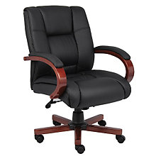Dawson Tufted Vinyl Desk Chair, 8802396