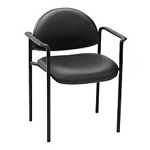 Rounded Back Vinyl Stacking Chair, BOC-B9501V