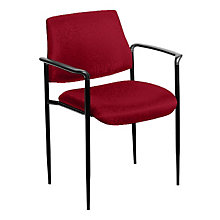 Square Back Fabric Stacking Chair, 8803680