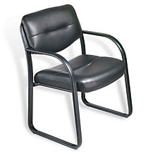 Dorrit Sled Base Guest Chair in Bonded Leather, BOC-B9529