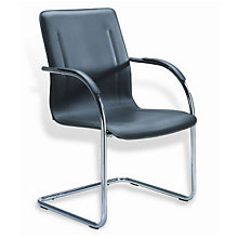 Vinyl and Chrome Side Chair, 8803682