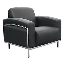Black Vinyl Reception Chair, BOC-BR99001