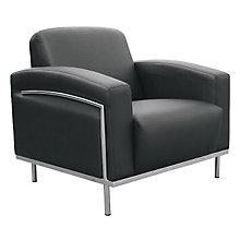 Black Vinyl Reception Chair, 8802409