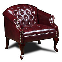 Traditional Tufted Queen Anne Style Club Chair, BOC-BR99801