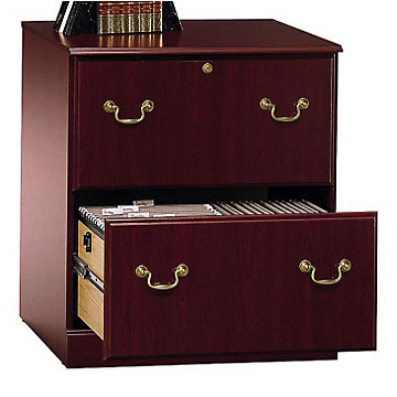 Harvest Cherry Lateral File Cabinet, EX45654-03