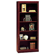 Harvest Cherry Five Shelf Bookcase, BUS-W1615C-03