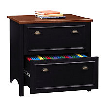 Antique Black with Hansen Cherry Lateral File Cabinet, BSH-WC53984
