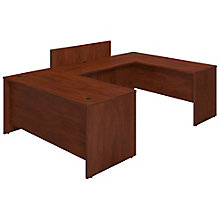 "Series C Elite Reversible U-Desk with Privacy Bridge - 66""W, 8805314"