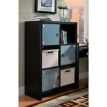 New York Skyline Bookcase with Glass Doors, BUS-KI10105