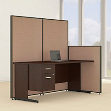 "Single Pedestal Desk & Panel Set - 74""W, 8805218"