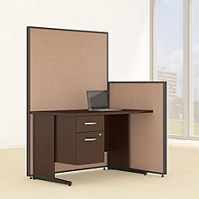 "Compact Single Pedestal Desk & Panel Set - 50""W, 8805220"