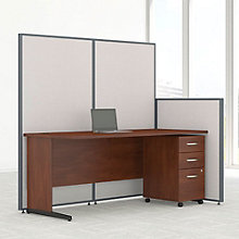 "Desk & Panel Set with Mobile Pedestal - 74""W, 8805223"