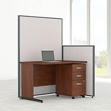 "Compact Desk & Panel Set with Mobile Pedestal - 50""W, 8805225"