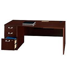 """72"""" Desk with Left Pedestal, BUS-QT0736-7"""