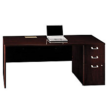 "72"" Credenza with Right Pedestal, BUS-QT4746-7"