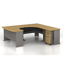 "Series A Right Bow U-Desk - 84""W x 91""D, BUS-10131"
