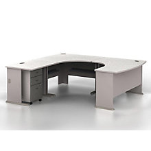 "Series A U-Desk with Left Bridge - 84""W x 91""D, BUS-10132"