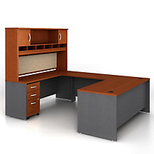 Reversible U-Desk with Hutch, OFG-UD1091