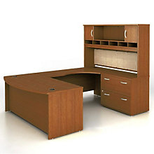 Right Bridge U-Desk with Hutch, OFG-UD1092