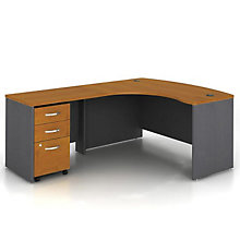 Bow Front Left Return L Desk, OFG-LD1233