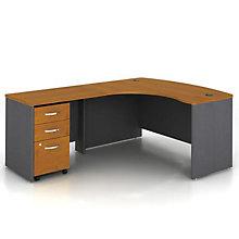 bow front left return l desk ofg ld1233 bow front reception counter office reception desk