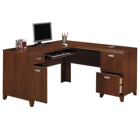 L shaped desk w right return tuxedo by bush L shaped office desk
