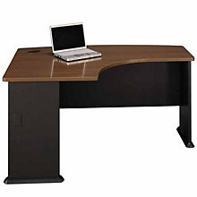 "Series A Left Bow L-Desk - 60""W, BUS-10105"