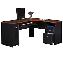 Black and Hansen Cherry L -Shape Desk with Right Return, BUS-WC53930-03