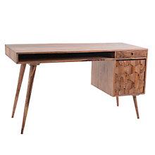 "O2 Patterned Wood Computer Desk - 53.5""W, 8804858"