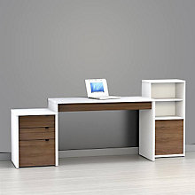 Infini-T Laptop Desk Set with Bookcase, OFG-DS0034