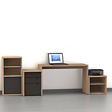 Infini-T Laptop Desk Set with Bookcase and Media Storage, OFG-DS0035