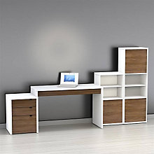 Infini-T Laptop Desk Set with Bookcases, OFG-DS0036