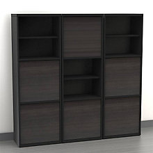 Infini-T Two Door Bookcases - Set of Three, OFG-SC0013