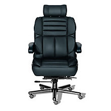 24/7 Big and Tall Chair with Headrest in Leather, 8810153