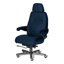 24/7 Big and Tall Chair with Headrest in Fabric, 8810154