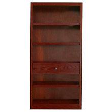 "Midas Five Shelf Bookcase with Drawer - 72""H , 8802177"